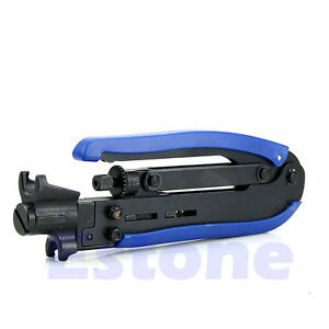 RG59 RG6 RG11 Coaxial Cable Crimper Compression Tool For F Connector CATV TV