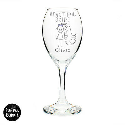 PERSONALISED WINE GLASSHEN NIGHT BRIDE TO BE GIFT IDEAFunky Bride Present