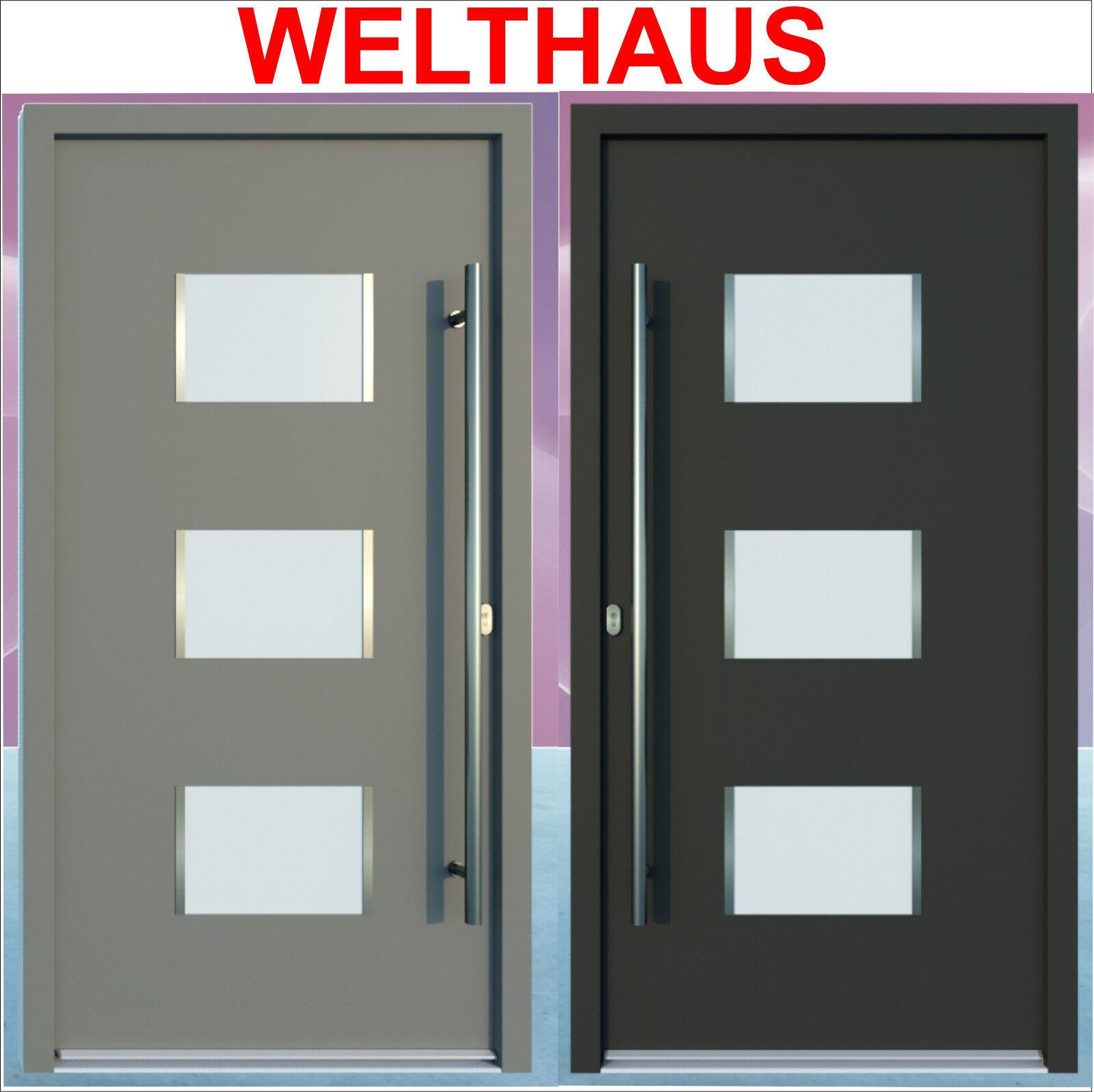Haustür Welthaus WH94 Premiumtür Aluminium mit Kunststoff LA350 Hamburg Tür