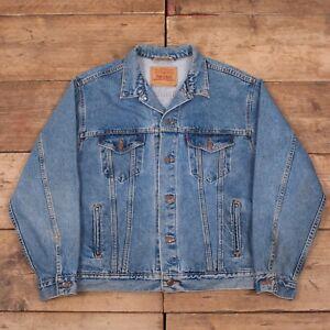 Usa 44 Blue Trucker Red Levis 1990s Denim Vintage Jacket Large Tab Mens HqBPTzT