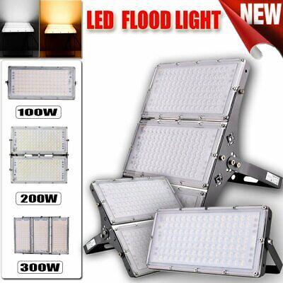 1//2X 100W LED Fluter Flutlicht IP65 Außenleuchte Außen Garten Fassadenstrahler