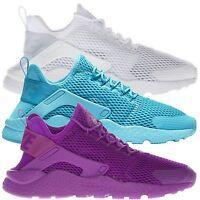 Nike Women's Air Huarache Run Ultra Low Top Running Sports White Purple Trainers