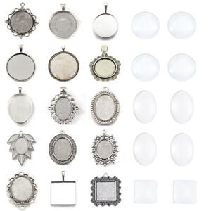 Alloy-Pendant-Settings-Bezel-Tray-Pendant-Blanks-With-Glass-Cabochons-Cover