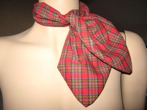 NUOVO Rosso Nero Bianco TARTAN CHECK COLLO TESTA Cravatta Sciarpa partito FANCY DRESS PUNK GOTH