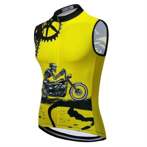 2020 Herren Ärmellos Fahrradshirt Top Sleeveless Radweste Fahrradweste S-5XL