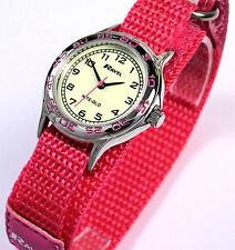 Ravel Girls Kids Luminescent Face Watch Pink Fast Fit Strap with NITE-GLO TEXT