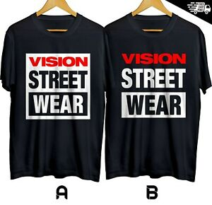 Vision-Street-Wear-Skateboard-Equipment-T-shirt-Cotton-100-Size-S-XL
