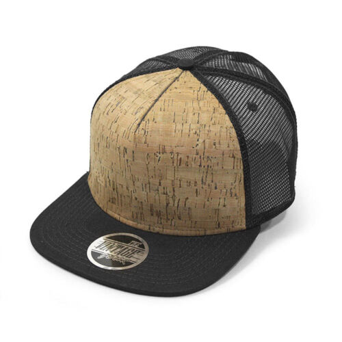 New Cork Square Cotton Flat Visor Mesh//Denim Adjustable Snapback Baseball Caps