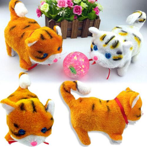 1 Pcs Electric Cat Sound Walking Cute Plush Children Kids Educational Toy HU lq