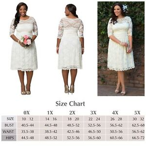 Kiyonna Plus Size 0 Wedding Dress Aurora Style White Lace Illusion ...