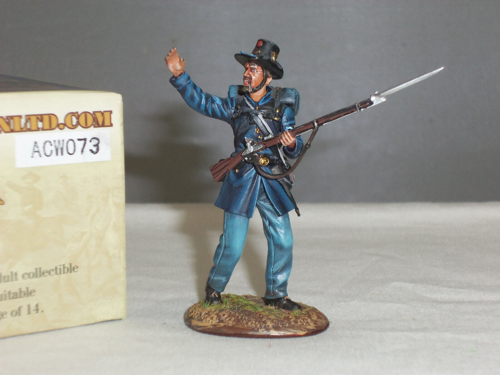 FIRST LEGION ACW073 IRON BRIGADE 2ND WISCONSIN VOLUNTEERS NCO METAL TOY SOLDIER