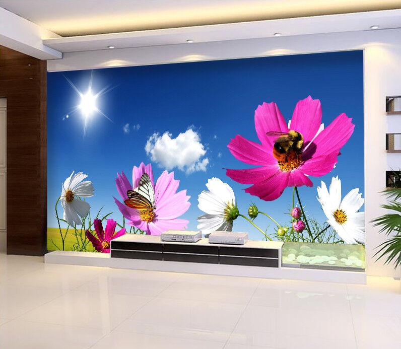 3D Sonne Himmel Blaumen70 Tapete Tapeten Mauer Foto Familie Tapete Wandgemälde DE