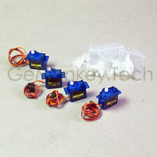 4X SG90 9G Micro Servo RC Robot Helicopter Airplane Control Arduino Compatible
