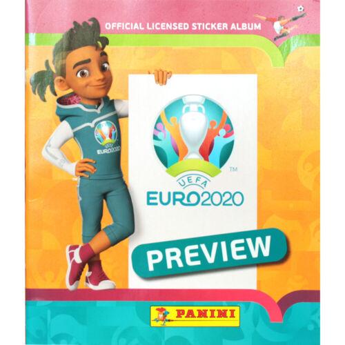Panini EURO 2020 PREVIEW INTERNATIONAL Sticker Display Starter Tüten aussuchen