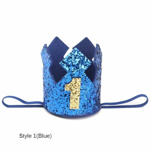 Kids Boys Baby Birthday Hat Crown Hair Band Floral Headwear Party Headdress