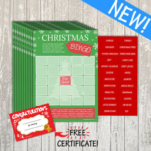 Christmas Bingo Cards.Details About Christmas Bingo Game Kids Office Family Party Secret Santa Stocking Filler