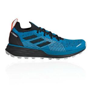 ADIDAS-Da-Uomo-Terrex-due-trattativa-Trail-Running-Scarpe-da-ginnastica-Blu-Sport
