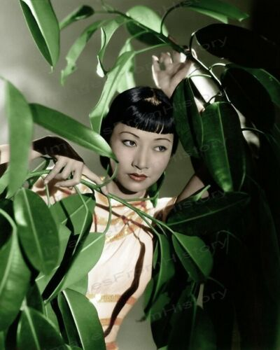 8x10 Print Anna May Wong Beautiful Colorized Portrait #AW21