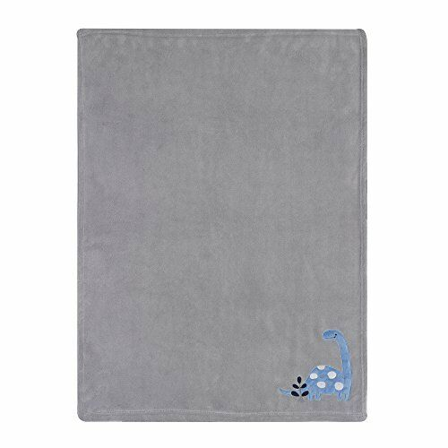 Blue//Gray FREE2DAYSHIP TAXFREE NEW Bedtime Originals Roar Dinosaur Blanket