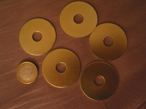 5 grosses rondelles Ø 40 mm trou 10,5 mm.=