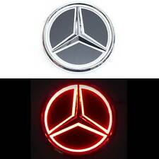 "87mm 3.4"" LED 5D Red Light Neon Decorative Logo Badge Emblem Mercedes Benz"