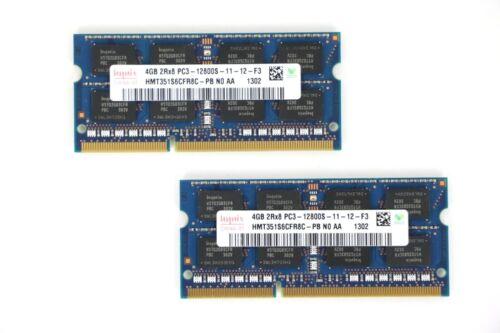 8GB Kit2x4GB Hynix PC3-12800 SO-DIMMHMT325S6CFR8CRAM Memory