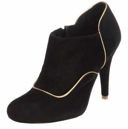 Rockport Size 9.5 M Presia Black Suede Heels Booties New Womens shoes