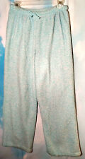 Women's Pajama Pants Bottoms Soft Mottled Mint Green and White Size Medium