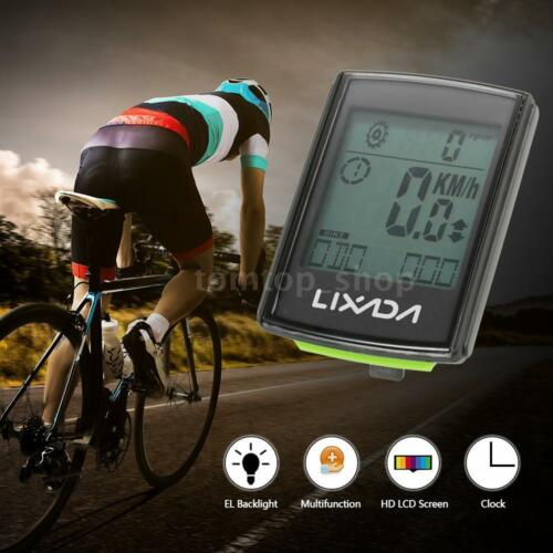 Lixada Multifunctional 3-in-1 Wireless LCD Bicycle Cycling Computer with H2J9