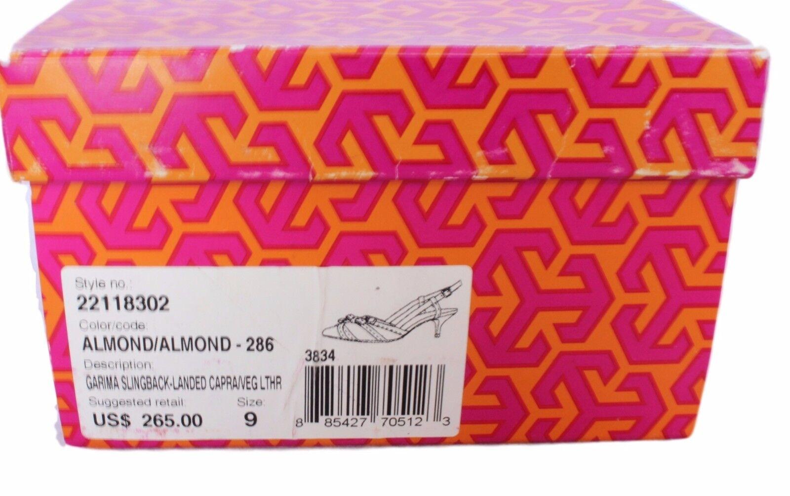 Zapatos De Cuero Tory Tory Tory Burch Garima Charol Tacones Tacones Marrón De Almendra Capra 9  265 bdb609