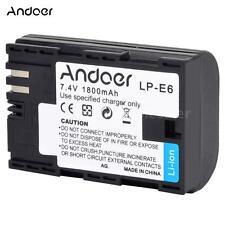 1800mAh LP-E6 Camera Battery Pack for Canon EOS 5D Mark 5DS 6D 7D 60D 70D A0K2