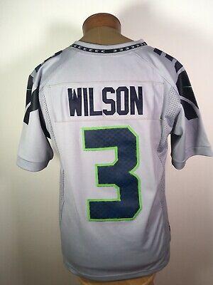 Seattle Seahawks #3 Russell Wilson Nfl Jersey Gris Lobo hombre ...