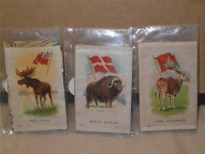 Lot-3-Antique-ITC-Tobacco-Co-Silks-Eland-Bechuanaland-Mosse-Canada-Musk-Ox-Gree