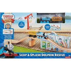 Fisher-Price-Thomas-amp-Friends-Wooden-Railway-Leap-and-Splash-Dolphin-Rescue