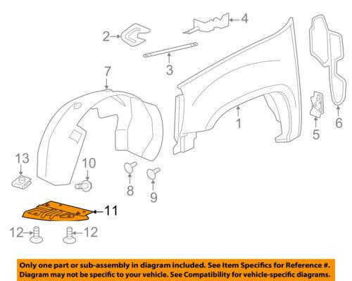GM OEM Front Fender-Liner Splash Shield Panel Cover Left 22782947