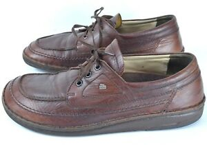 Finn-Comfort-Germany-Mens-Oxford-Shoes-Size-10-10-5-43-Brown-Leather-Lace-Up
