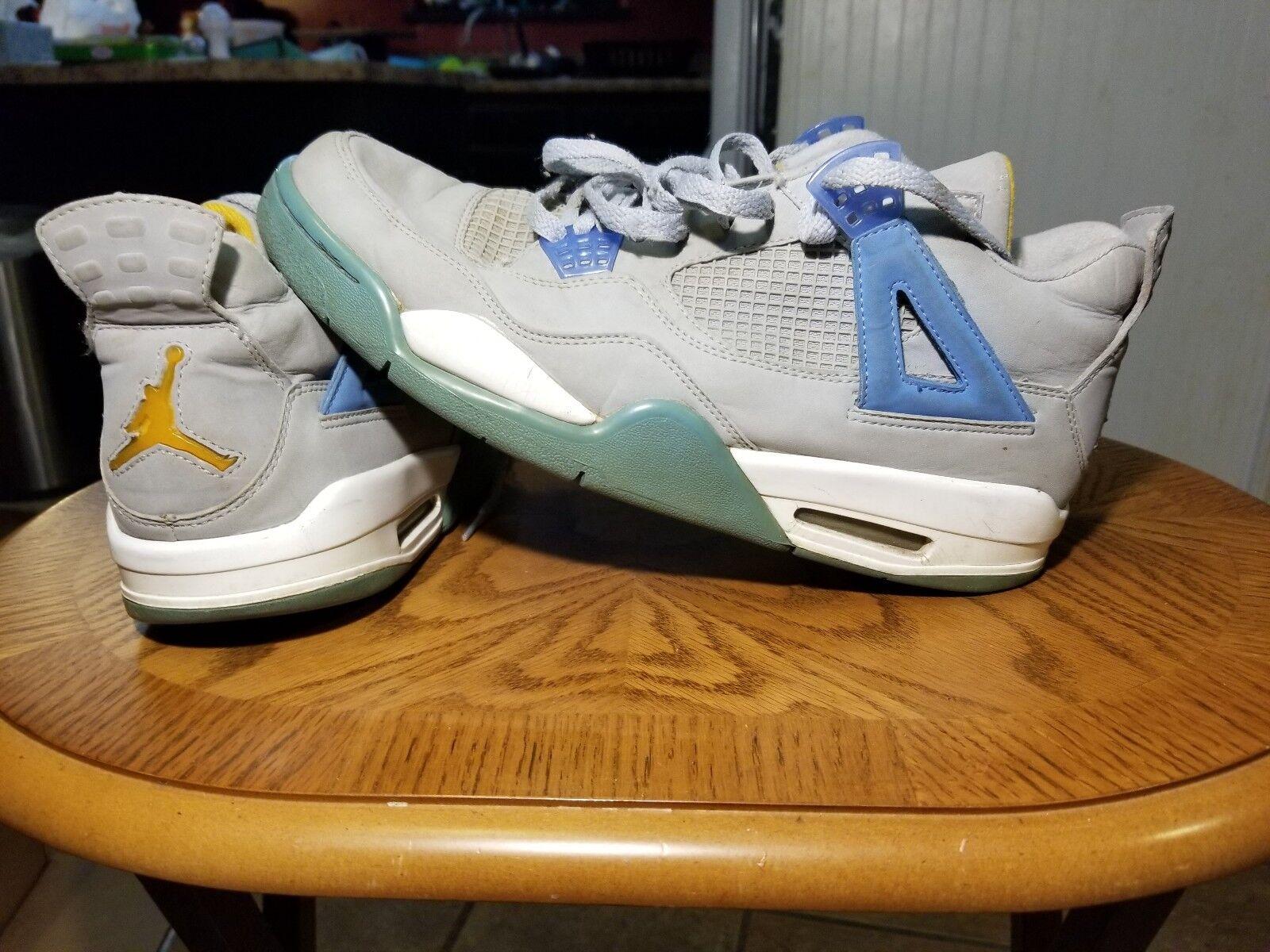 best sneakers 8f402 a9d85 ... low georgetown hoyas mist 11.5 12bf7 c0b15  free shipping nike iv air  jordan iv nike 4 rétro gris jaune mist bleu taille 11
