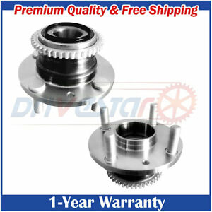 Set:2 New Rear Wheel Hubs&Bearings for Ford Mazda Mercury w/ABS 4 Bolts