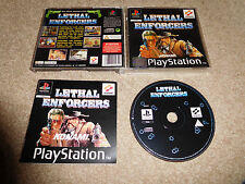 Lethal Enforcers complete with manual Sony PS1 PAL Game TESTED 100% FB