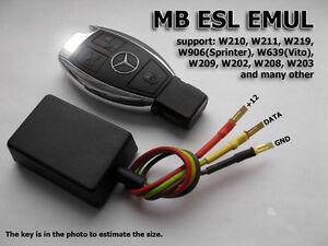 esl emulator mercedes benz eis mb w639 w906 w202 w209 w2011 w208 w210 w203 ebay. Black Bedroom Furniture Sets. Home Design Ideas