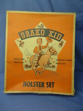 Vintage Original GRAKO KID Western Cap Gun Holster Set Box