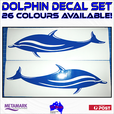 Dolphin Fish Graphics set of 600mm Boat Graphics