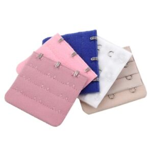 5-Pcs-Lady-3-Rows-Bra-Back-Bank-Extenders-Buckle-Hook-Khaki-Dark-Blue-Pink-D3V6