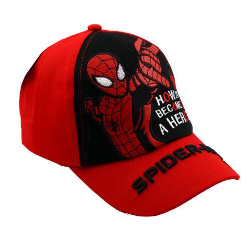 Kids Boys Spiderman Batman Hip-Hop Baseball Caps Adjustable Casual Outdoor Hats
