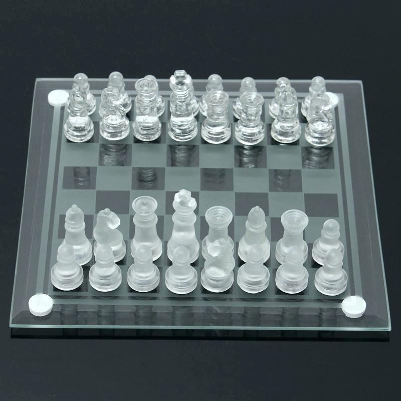 Conjunto de 5 X 3 en 1 juego de ajedrez Backgammon Damas Juego De Vidrio Vintage (5 Pack)