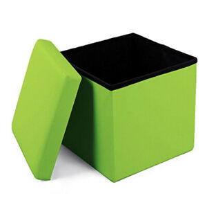 Geartist-Leather-Folding-Ottoman-Footrest-Padded-Seat-Kids-Toy-Storage-Box-Chair