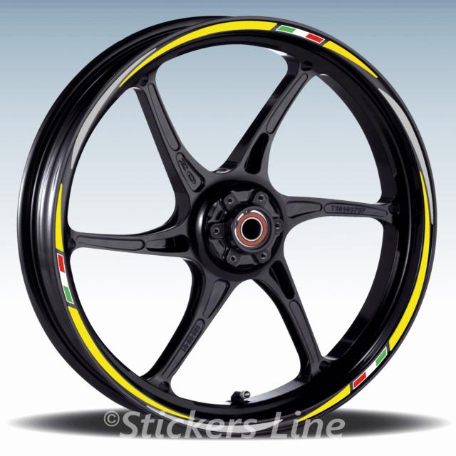 Adesivi ruote moto strisce cerchi per Aprilia TUONO V4R  Racing 3 stickers wheel