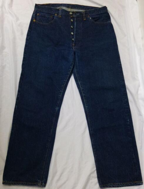 Vtg Levis 501 Jeans Big E Redline Selvedge Single Stitch #2 Button 34x29 Mens