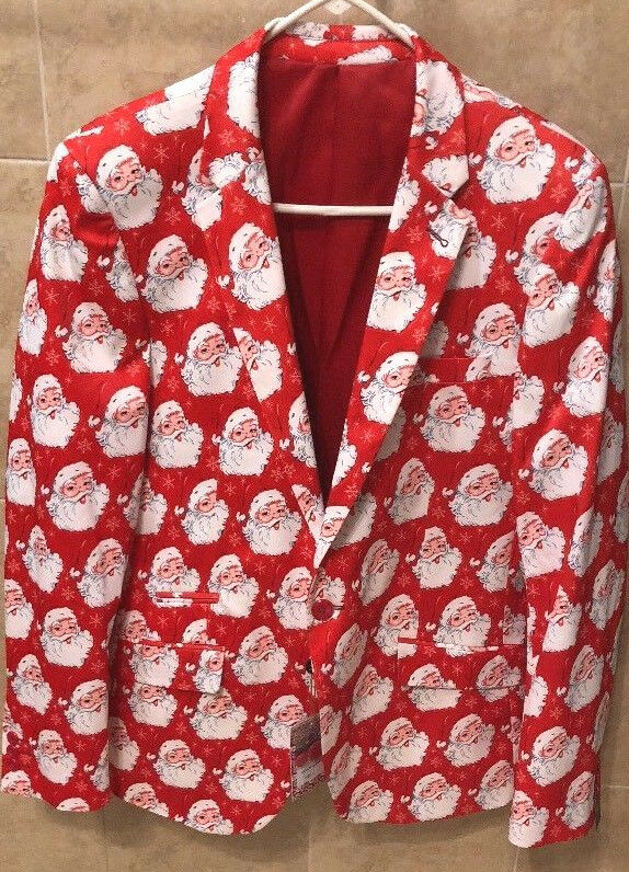Suslo Couture Christmas Santa Blazer Sport Coat NWT Ugly Sweater M(40) & L(42)