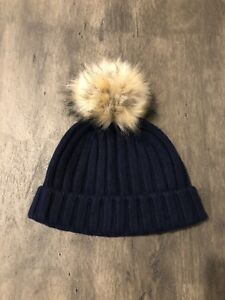 43f347b720f Image is loading J-Crew-Ribbed-Beanie-With-Faux-fur-Pom-